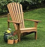 Arboria 880.3394.7  Classic Lodge Wood Adirondack Outdoor Chair Eucalyptus Hardwood