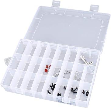 24 Compartimentos Ranuras Celdas Caja de herramientas portátil ...