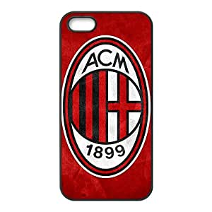 Custom UEFA Champions League AC Milan FC Logo Case for iPhone 5and iphone 5s