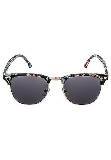 Even&Odd Sonnenbrille mit floralem Motiv in Schwarz, One Size
