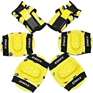 IDMAX Kids Protective Gear Set, Child Knee Pads Elbow Pads Wrist Guard 6 in 1 with Adjustable Strap for Roller