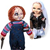 Bride of Chucky Collectors Memorabilia: 26'' Chucky & Tiffany Plush Doll Set Bundled With Stands