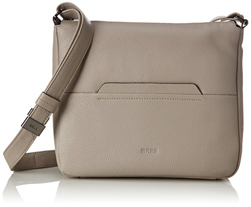BREE Collection Faro 2, New Elephant, Cross shoul. M W15 - Bolso Bandolera Para Mujer Gris (Vintage)