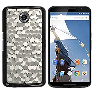 GOODTHINGS Funda Imagen Diseño Carcasa Tapa Trasera Negro Cover Skin Case para Motorola NEXUS 6 / X / Moto X Pro - brillo polígono arte 3d diseño de moda