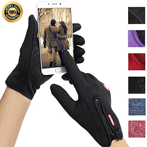 Cycling Gloves Touchscreen Winter Waterproof Outdoor Driving Anti-slip Sports Gloves for Men...