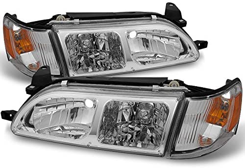 Set of Pair Clear Park Signal Bumper Lights for 1993-1997 Toyota Corolla