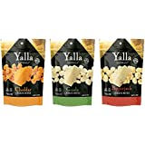 Knusprig Bites Cheese Snacks 3 Pack - Cheddar, Gouda and Pepper Jack - 100% Cheese - High Protein and Calcium, Gluten Free, No-Low Carb, Kosher - 1.5oz - by Yalla Naturals