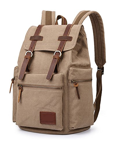 Zhongmei Rucksack Backpack for Men,Country Style,Khaki