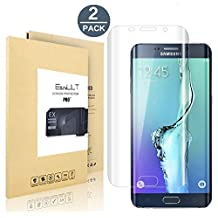 Galaxy S6 Edge Screen Protector [Full Coverage],EasyULT [2 Pack] HD [Crystal Invisible] [Full Screen Coverage] (Edge to Edge) Ultra Thin Premium PET Film Screen Protector For Galaxy S6 Edge (Not Glass)