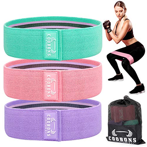 Resistance Bands for Legs and Butt – Exercise Bands Hip Bands Workout Bands Booty Fitness Bands, Glute Bands for Women…