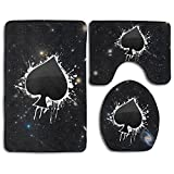 Poker Ace Of Spades Skidproof Toilet Seat Cover Bath Mat Lid Cover