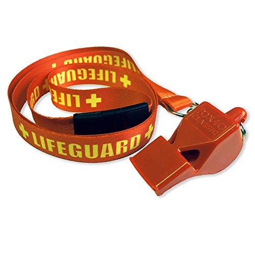 Classic 40Trillerpfeife + gewebtes Lifeguard Band  Gr. Einheitsgröße, Rot - Rot