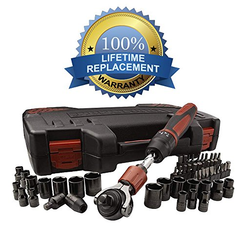 (Craftsman 53-piece Mach Series Tool Set, Includes Both SAE and Metric Sockets, Driver Bits and the Reversible Helix Push Shaft Ratchet - Backed By Our Lifetime Replacement Guarantee!!! )