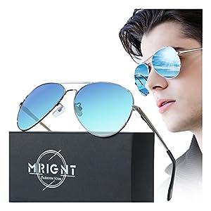 Men Military Classic Aviator polarized Sunglasses UV400 with A Sunglasses Case…