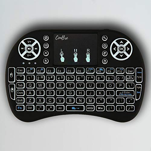 Conbre AirPAD i8 Mini Wireless Keyboard and Mousepad | Inbuilt Backlight | Supports All Smart TV, Android TV Box, Smart Phone, iOS and Raspberry-pi