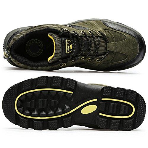 Securite Respirant Confortable Paragon Sports Montantes Plates Lacées Baskets De 01 Homme Chaussures Et Bottes Randonnée Imperméable Vert 6x76r