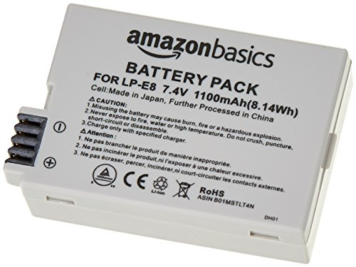 AmazonBasics Li-Ion Battery for Canon Cameras (LP-E8)
