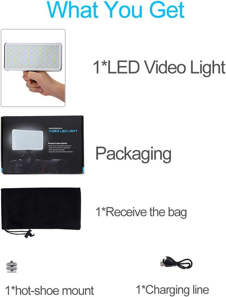 3300K-5600K Bi-Color CRI 95+,OLED Display,Metal Frame Portable Universal DSLR Camera Light with 180 LED lightings,High Brightness,4000mAh Large Vapacity Battery for Photo YouTube Video Photography
