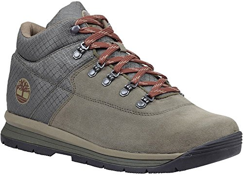 (Timberland Mens GT Rally Mid Leather/Fabric Boot, Dark Green Suede/Fabric, Size 10)