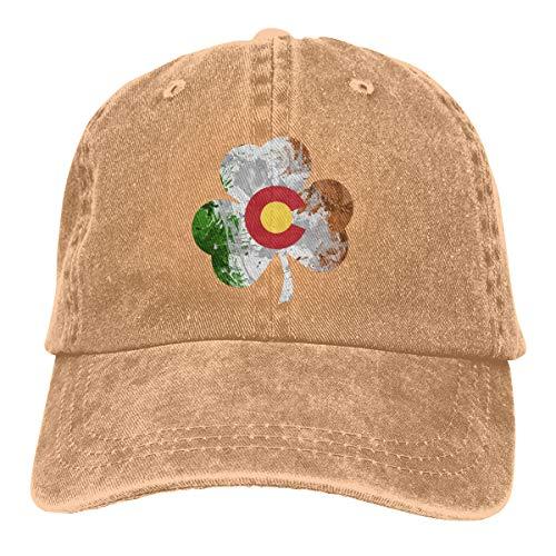Goldsmith Sally Colorado Bandera irlandesa Champú Unisex Perfil bajo lavado  gorras de béisbol ajustable sombrero de aed0095b898