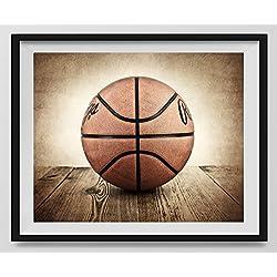 Vintage Basketball On Vintage Background Fine Art Photography Print,  Basketball Artwork, Nursery Decor,