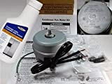 whirlpool estate water filter - 10522102 - FACTORY OEM ORIGINAL WHIRLPOOL KENMORE MAYTAGE ROPER ESTATE REFRIGERATOR CONDENSER FAN MOTOR (2W CW 1300rpm W/Wire Leads) Includes Bottle of Stainless Steel Polish.