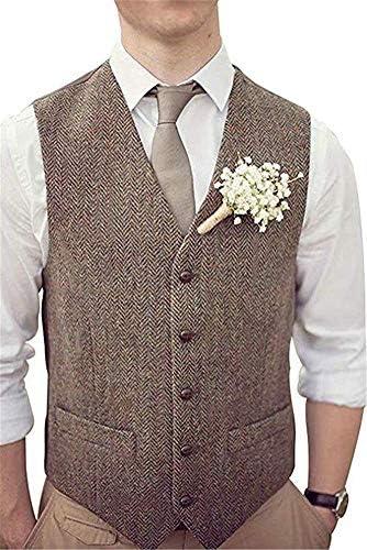 Onlylover Herringbone Waistcoat CHEST 45 67 WAIST 37 80 product image