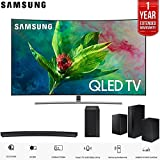 Samsung 65' Q7 QLED Curved Smart 4K UHD TV (2018 Model) with Samsung HW-M4500 2.1 Channel 260 Watt Curved Wireless Audio Soundbar and SWA-8500S/ZA Wireless Rear Speakers 1 Year Warranty Bundle
