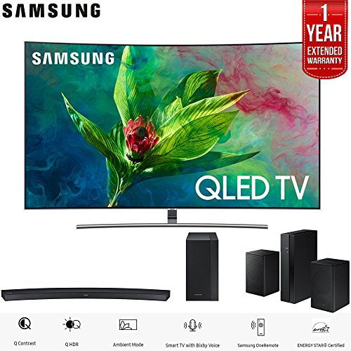 "Samsung 65"" Q7 QLED Curved Smart 4K UHD TV  with Samsung HW-"