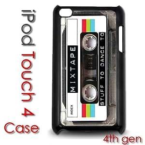 IPod Touch 4 4th gen Touch Plastic Case - Mixtape Music Cassette80's Retro Style Tape