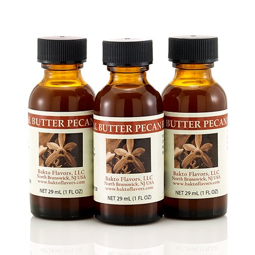 Bakto Flavors Natural Butter Pecan Flavor(1 FL OZ) Pack of -