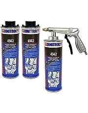 dinitrol 4942Underbody cera (marrón) 3x 1L latas (con Schutz estilo tapón de rosca) y 1x Schutz estilo pistola