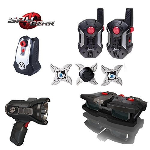 - Spy Gear Sigma Mission Kit Secret Agent Tool Set 5 - Ultra Range Walkie Talkies, Voice Changer, Night Scope, Ninja Stars & Motion Alarm