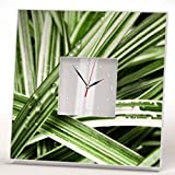 Cheap Water Drops on Green Grass Wall Clock Mirror Printed Art Rain Design Rustic Style Home Decor Gift