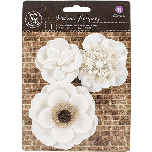 Prima Marketing Chaste Mulberry Paper FlowersSancia 2quot to 325quot 3/Pkg