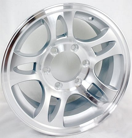 16 x 6 Aluminum Bullet T03 Trailer Wheel 6 Lug, 3,580 lb Capacity by Sendel Wheel