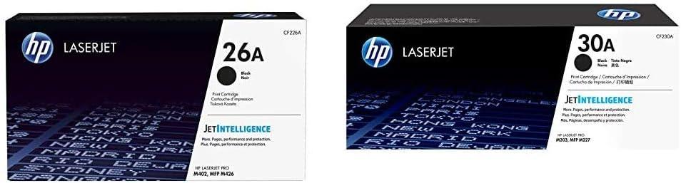 HP 26A | CF226A | Toner Cartridge | Black & 30A | CF230A | Toner Cartridge | Black