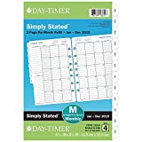 """Day-Timer 2019 Planner Refill, 5-1/2"""" x 8-1/2'', Desk Size 4, Two Pages Per Month, Loose Leaf, Classic (12024)"""