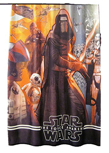 Star Wars The Force Awakens Fabric Shower Curtain