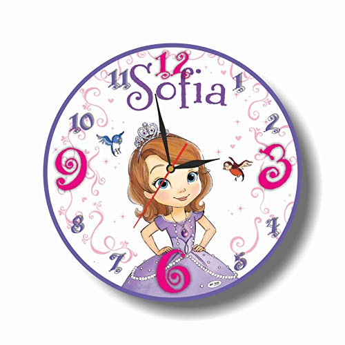 Art time production Sofia The First 11.8'' Handmade Wall Clock - Get Unique décor for Home or Office – Best Gift Ideas for Kids, Friends, Parents and Your Soul Mates ()
