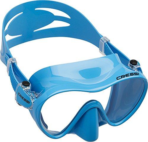 Cressi Tauchmaske F1 Máscara de Buceo, Unisex, Azul, Talla única