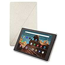 Amazon Fire HD 10 Tablet Case (Compatible with 7th and 9th Generations, 2017 and 2019 Releases), Sandstone White