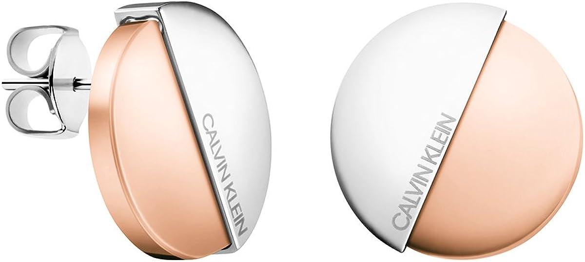 Calvin Klein Pendientes de botón Mujer chapado en oro - KJ8RPE200100