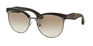cd8e855a4b93 Image Unavailable. Image not available for. Color  Miu Miu MU54QS TFD1L0  Gunmetal Stardust Cats Eyes Sunglasses