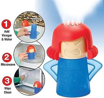 Crazy Chef no hay productos químicos cocina limpiador de vapor se Limpia Microondas apto para lavavajillas