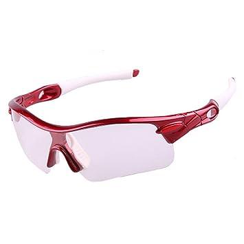Sencillo Estilo Semi-Rimless gafas de sol deportivas fotocromáticas Polarizadas Protección UV400 Conducción Ciclismo Correr