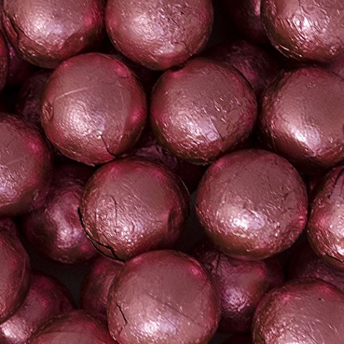 Wrapped Chocolate Balls - Pink Candy Caramel Filled Milk Chocolate Foiled Balls 2lb - Free Cold Packaging