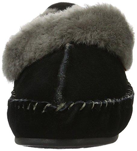 Warmbat Damen Polarfox Mokassin Schwarz (99 Black)