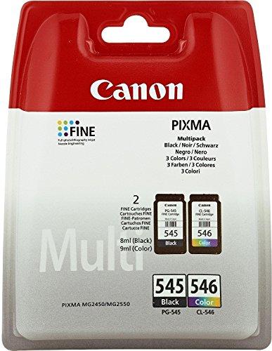 2 Cartouche d'encre pour Imprimante Canon Pixma iP2850 - Cyan / Jaune / Magenta / Noir- Avec Puce