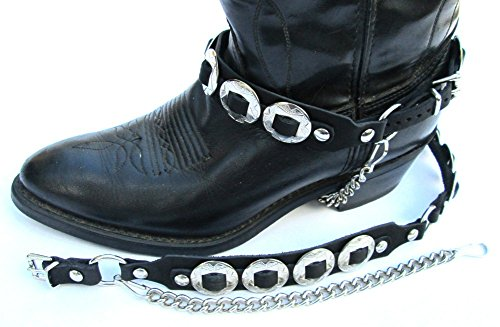 Western Boots Leather Shoe (Western Boots Boot Chains:
